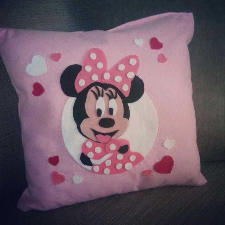 felt minnie,felt cushion,felt pillow,kece yastik,minnie ...