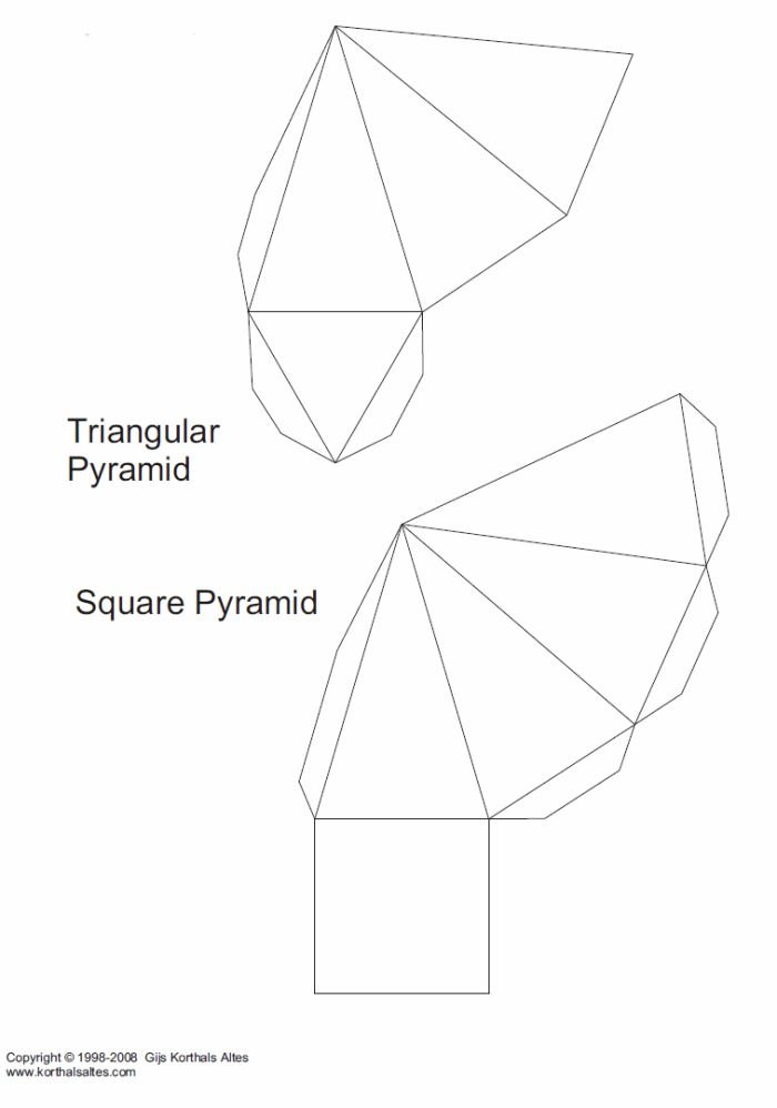 Best D Geometric Box Templates Images On   Paper