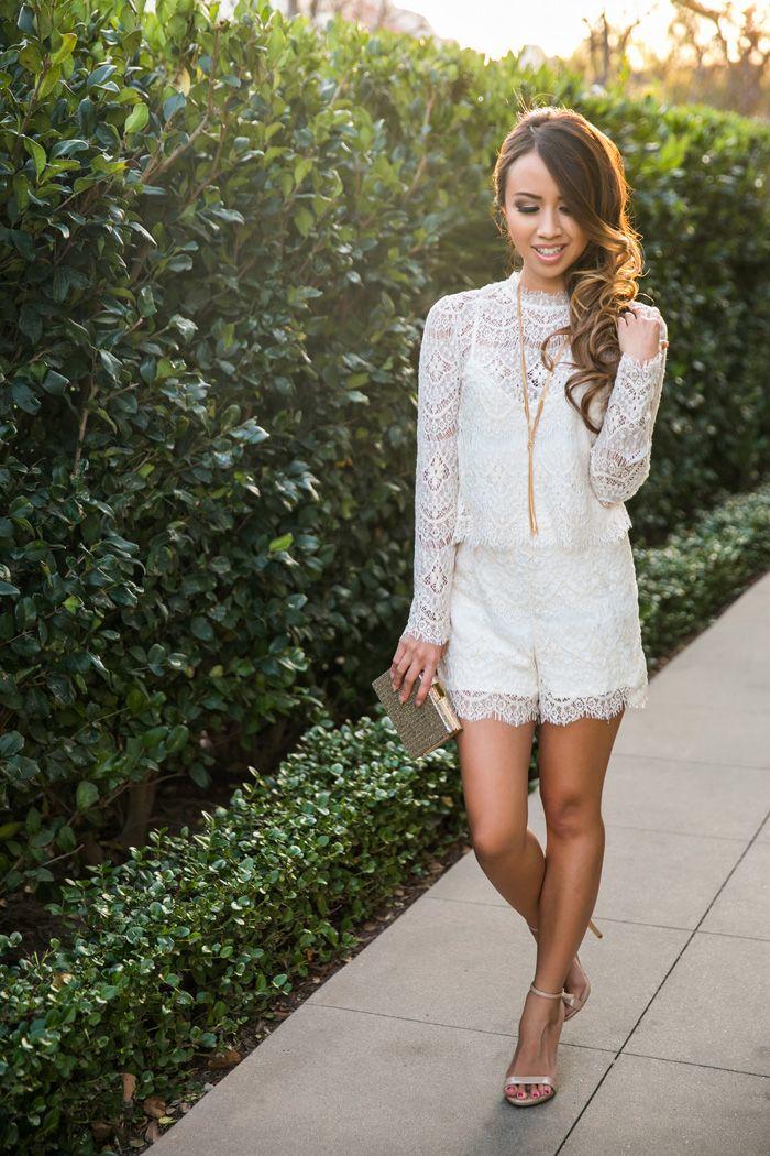 white romper lace