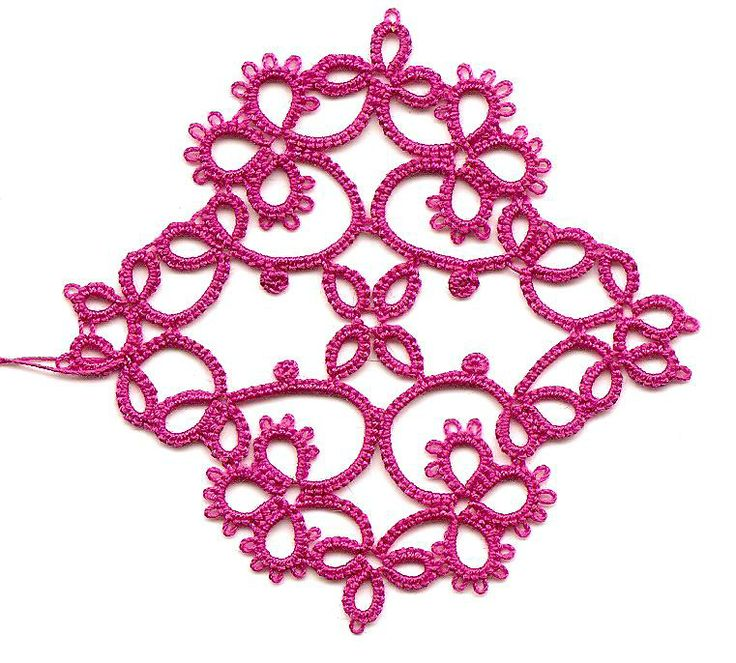 Needle Tatting for Absolute Beginner | Now this strip is an old piece of tatting but I am including it ...