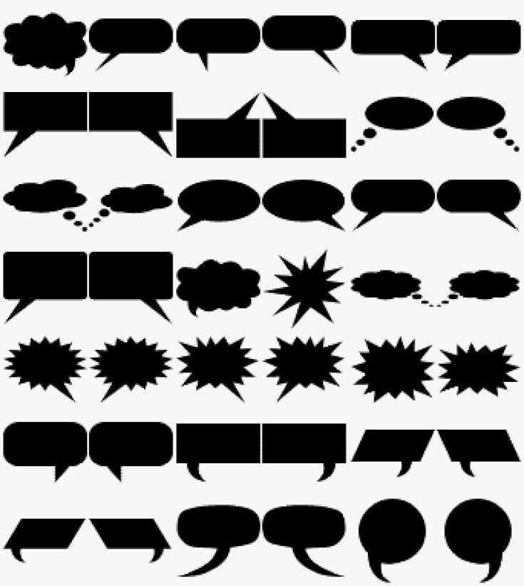 Get Free Custom Shapes for Photoshop and Photoshop Elements: Free Custom Shapes - Speech Balloon Shapes