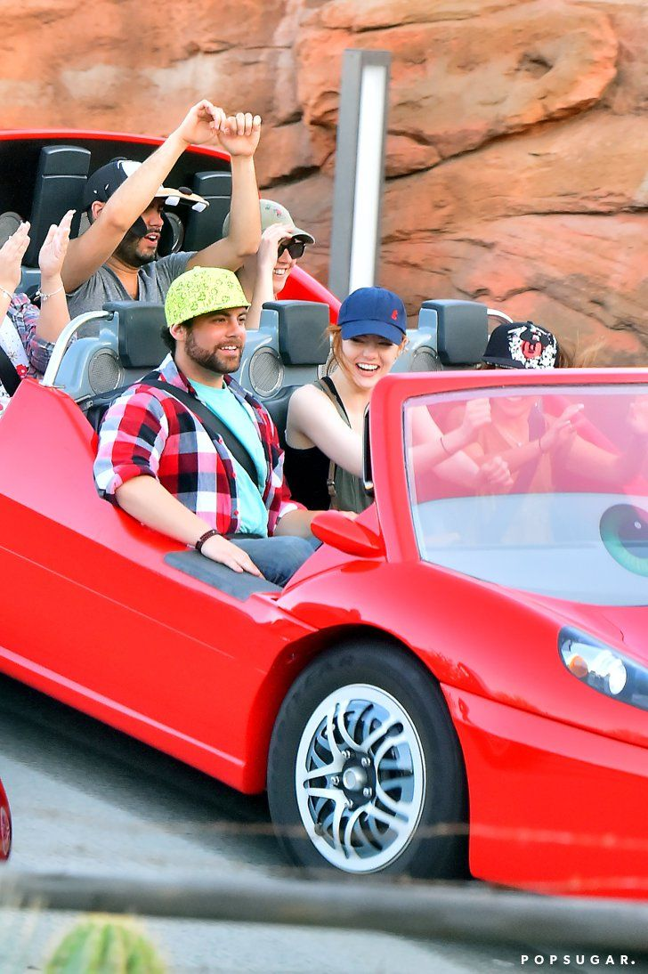 Pin for Later: Emma Stone Does Disneyland With Her Brother After Andrew Garfield Split