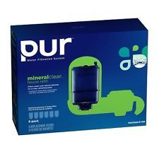 PUR MineralClear FILTRATION WATER filter faucet Refill RF-9999 6 pack SEALED NEW  #pur water filters #pur water filter cartridges #PUR WATER filter Refill