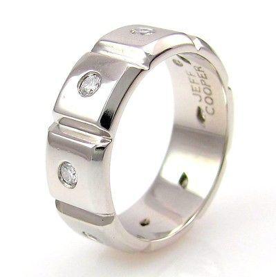 jeff cooper menu0027s 048ctw diamond infinity ring in platinum size 85 fj lbr