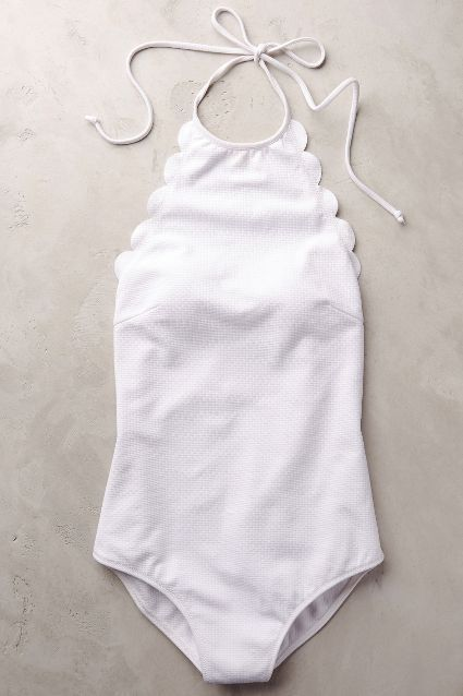 simple scalloped one-piece swimsuit http://rstyle.me/n/w7gxzr9te