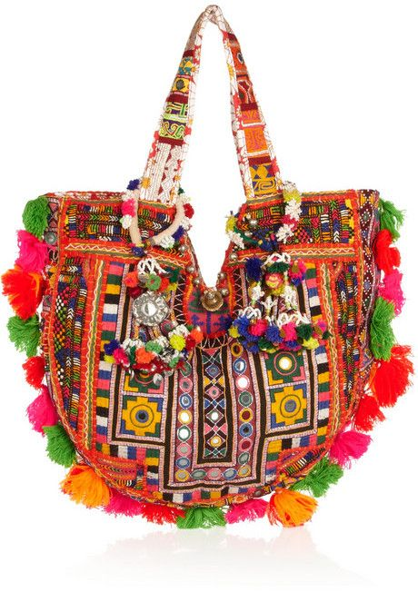 Finds + Muzungu Sisters embellished cotton-blend tote