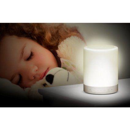 Bluetooth Lautsprecher, Marsboy Bluetooth Lautsprecher Farbwechsel 7 Farben Wireless Licht Touch Sensor TF-Karten Slot Nachtlampe LED Leuchte: Amazon.de: Küche & Haushalt