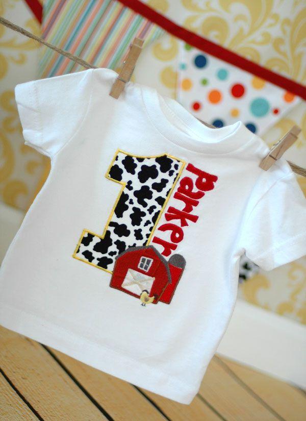 Barnard Bash Birthday T-Shirt Onesie Bodysuit - Free Personalization - Barn Farm Animals, Cow, FUN