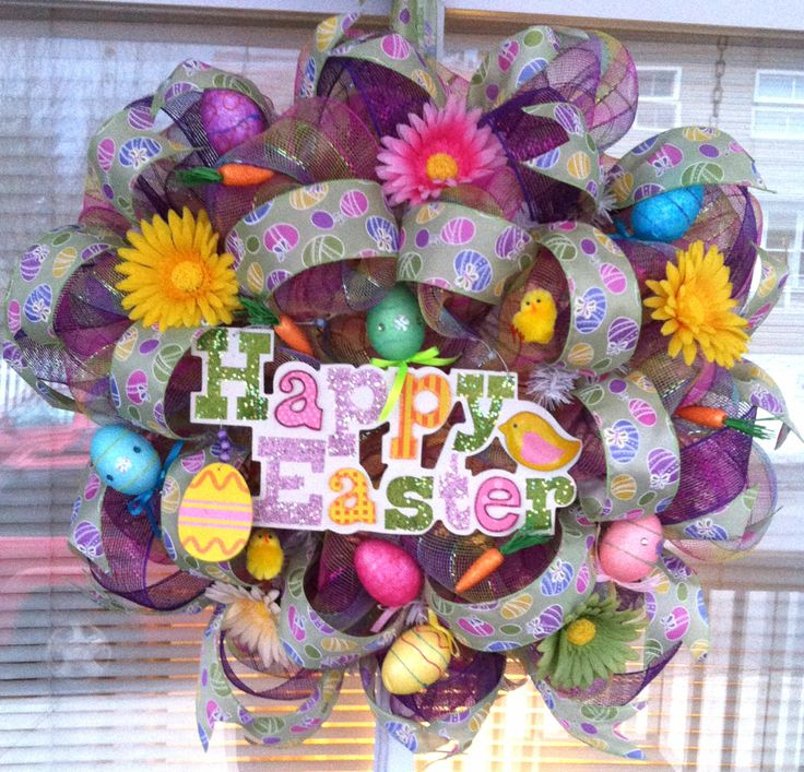 deco-mesh easter wreath 1