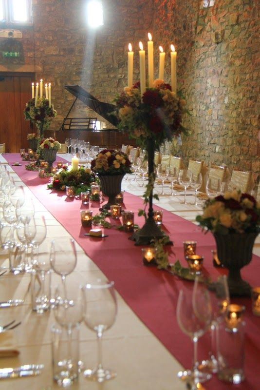 Dinner Party Wedding Part - 23: Classic Dinner Party Wedding In Claret