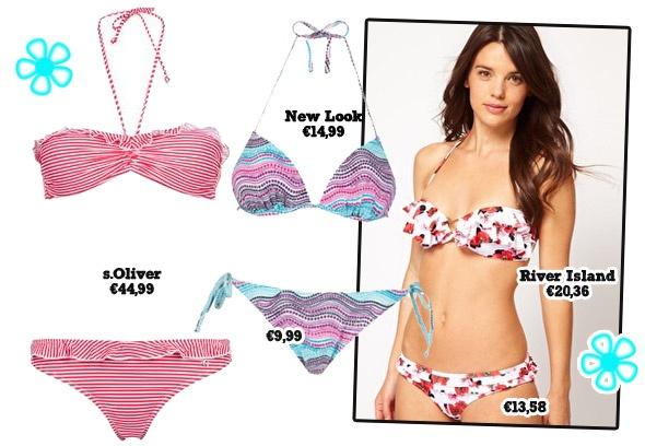 Welke bikini past bij je figuur? Deze modellen zijn geschikt voor kleine borsten. Check alle bikini's voor andere figuren op Girlz.nl