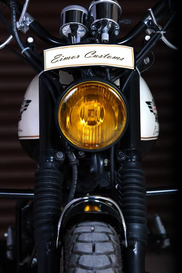 Einhorn Modified Hona Unicorn Cafe Racer Yellow Headlight Glass by Eimor Customs Motorcycle