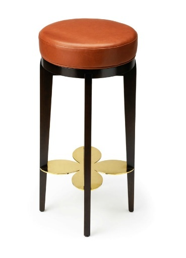 A Luxurious Handmade Saddle Leather Barstool With An Opulent Brass Or  Nickel Footplate. Exquisite Handmade Bespoke Furniture Made In The UK.