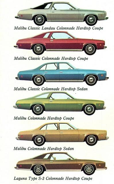 1974 Chevrolet Malibu Range