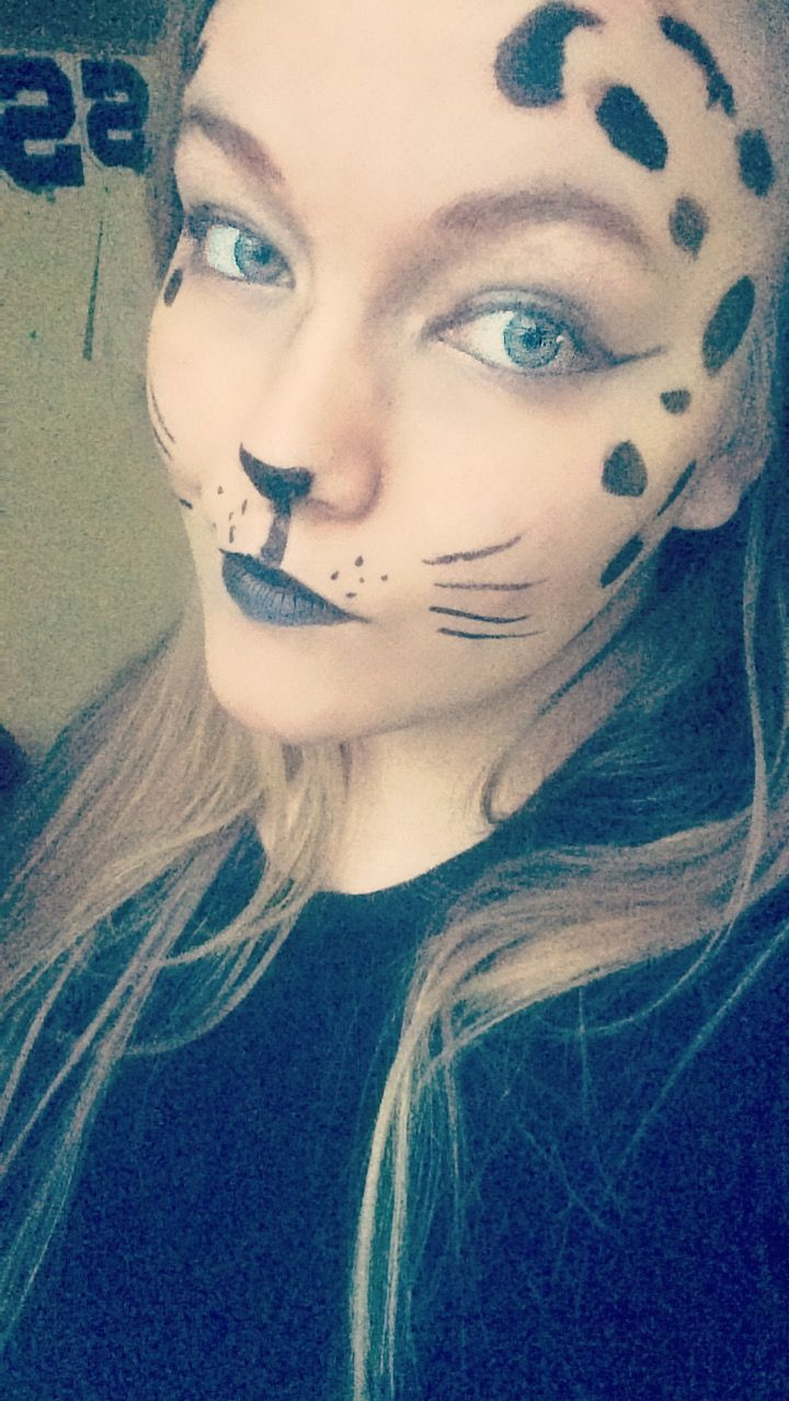 Kitty cat face painting