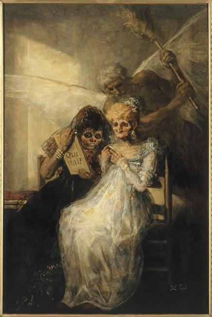 """""""Le Temps ou Les Vieilles"""" de Francisco José de Goya y Lucientes (1746-1828). Lille, Palais des Beaux-Arts - Photo (C) RMN-Grand Palais / Philipp Bernard"""