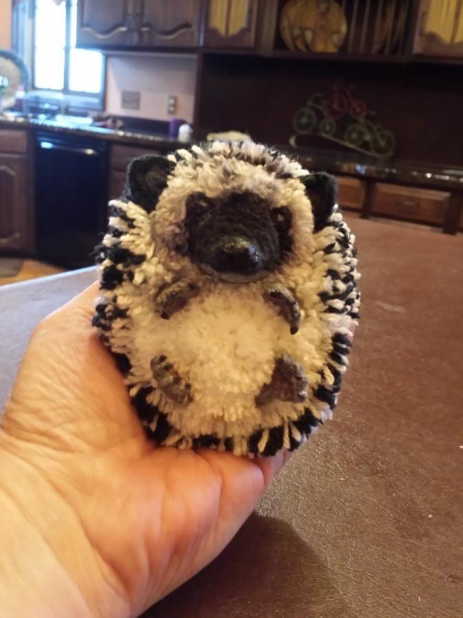 Crochet Hedgehog  - Crochet creation by SRO-AUSTIN