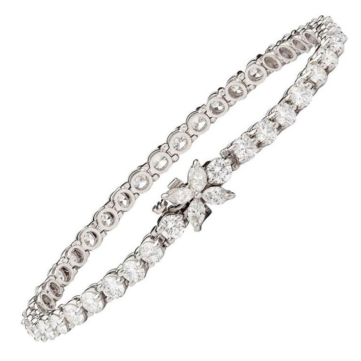Tiffany & Co. Diamond Platinum Victoria Line Bracelet