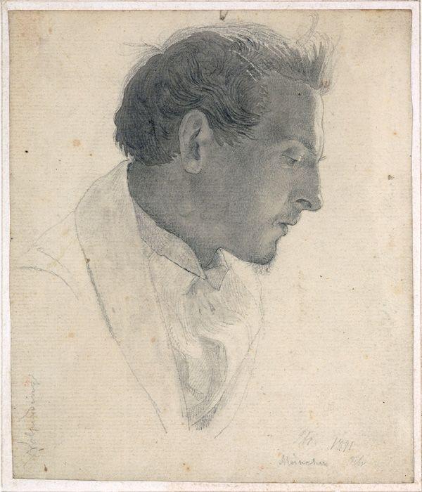 Portrait of the artist Friedrich Ernst Wolperding (1841), Lorenz Frølich