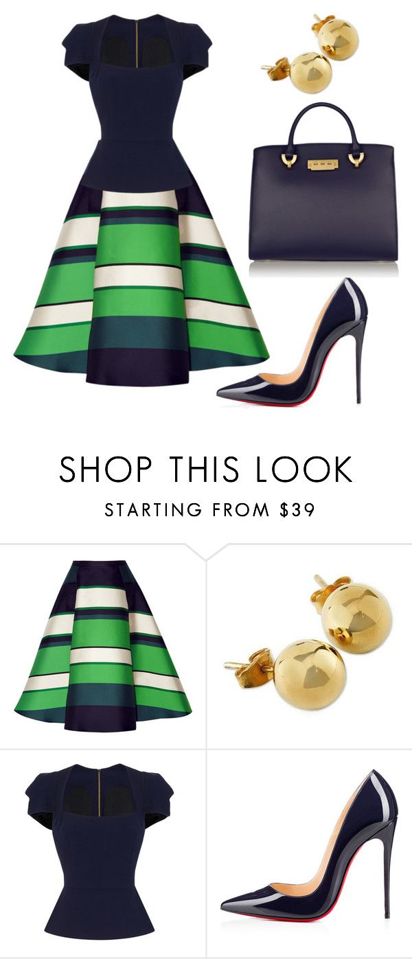 """style theory by Helia"" by heliaamado on Polyvore featuring moda, Lanvin, NOVICA, Roland Mouret, Christian Louboutin e ZAC Zac Posen"