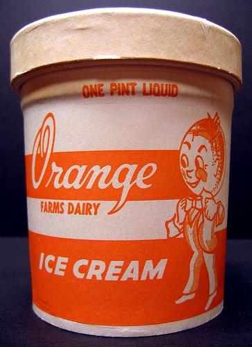 Orange Farms Dairy Ice Cream, One Pint Liquid