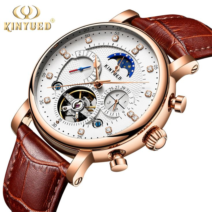 KINYUED Top Brand Mens Automatic Mechanical Watches Moon Phase Tourbillon Skeleton Watch Men Calendar Relogio Masculino de luxo #Skeleton watches http://www.ku-ki-shop.com/shop/skeleton-watches/kinyued-top-brand-mens-automatic-mechanical-watches-moon-phase-tourbillon-skeleton-watch-men-calendar-relogio-masculino-de-luxo/