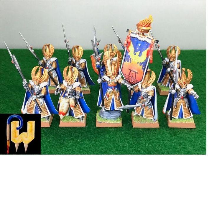 Warhammer Army High Elf AOS Eldritch Council Phoenix Guard x 10 Painted