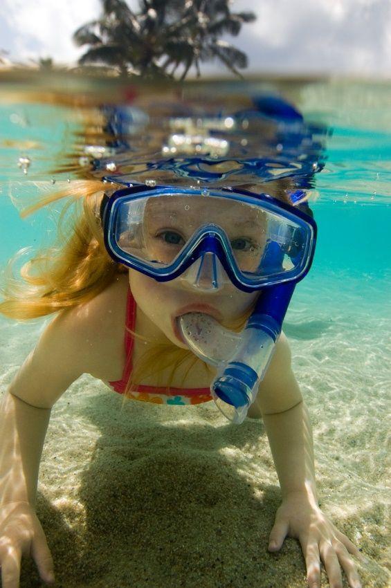 girl snorkelling - COSTA RICA!