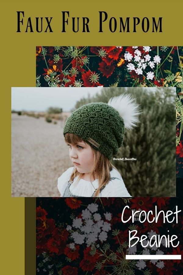 Crochet Beanie with handmade faux fur pompom. Perfect for winter! Comes in  so many color options. Can order in sizes newborn all the way up to adult b0351d6502fe