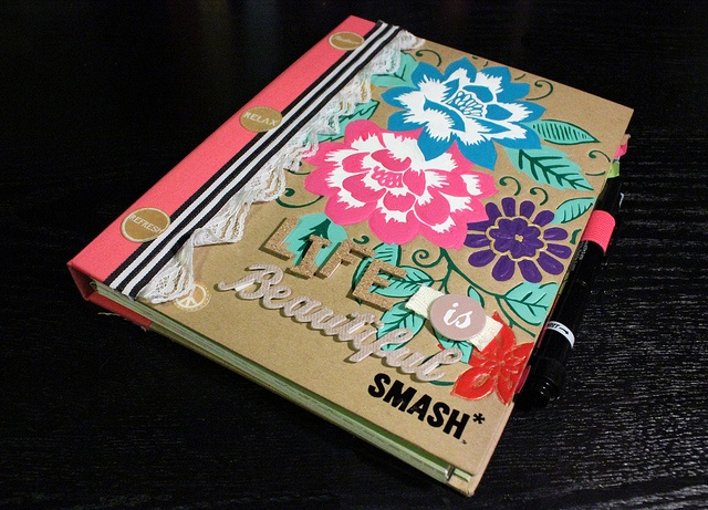 Smash Book Cover Ideas : Leah s pink smash book acrylics books and journal