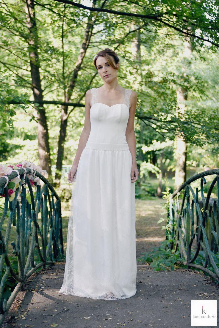 com modèle Pauline. kaa couture créatrice de robe de mariée à lyon ...