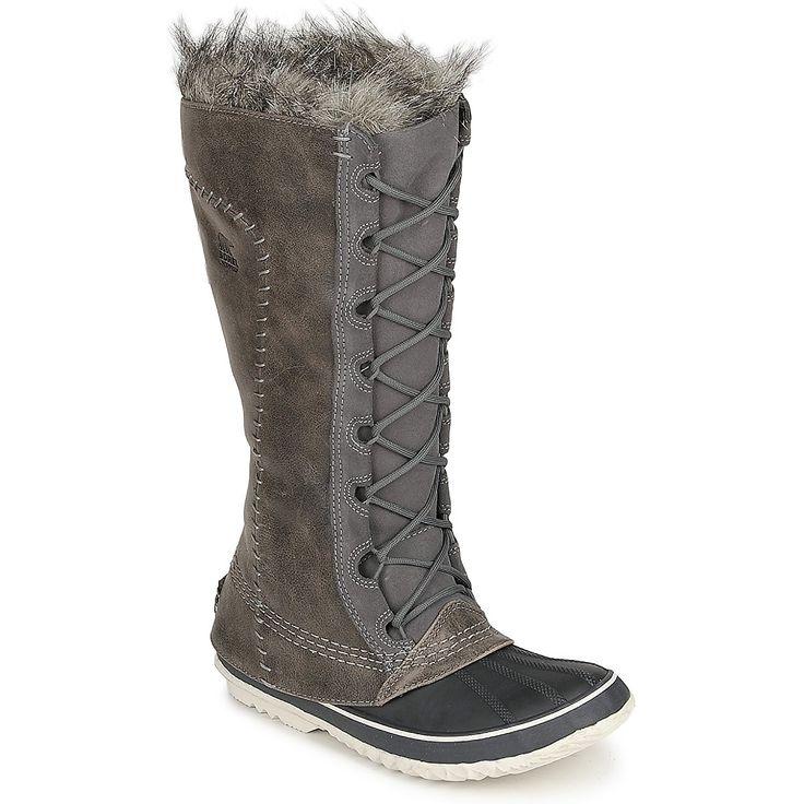 Talvisaappaat Sorel CATE THE GREAT Grey - Ilmainen toimitus Spartoo.fi-nettisivustolla ! - kengät Naiset 153,30 €