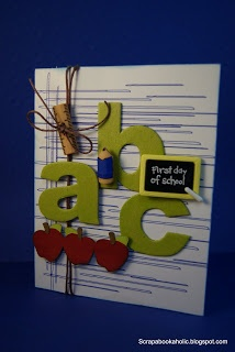 Gaby Creates: ABC Back 2 School Card using Cri-Kits