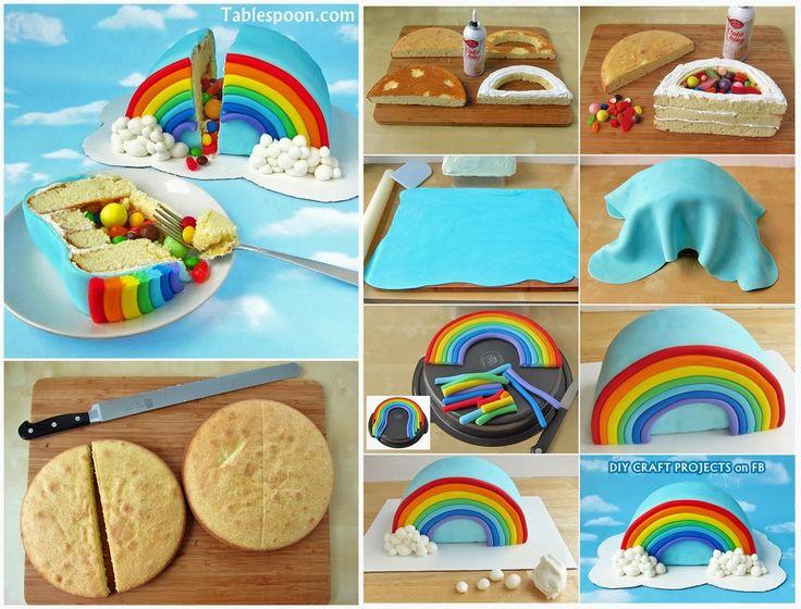 How to Make Rainbow Pinata Cake