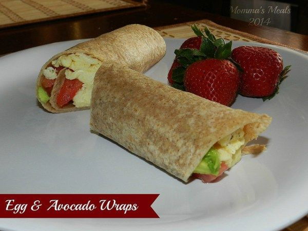 Egg & Avocado Breakfast Wraps (11)