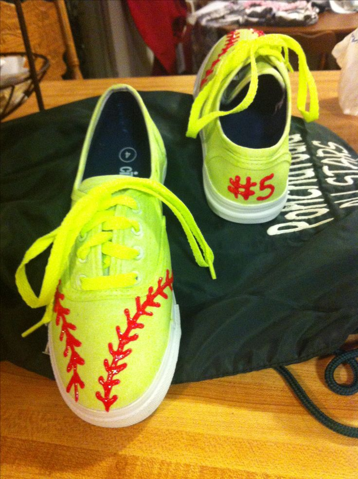 Softball tennis shoes! For my little All Star player!