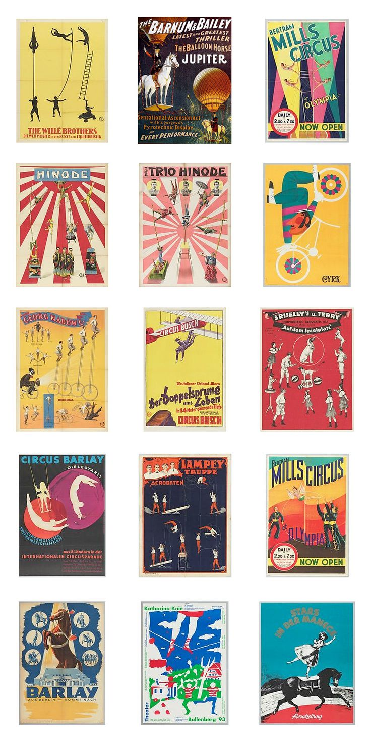 vintage circus posters                                                                                                                                                                                 Mais