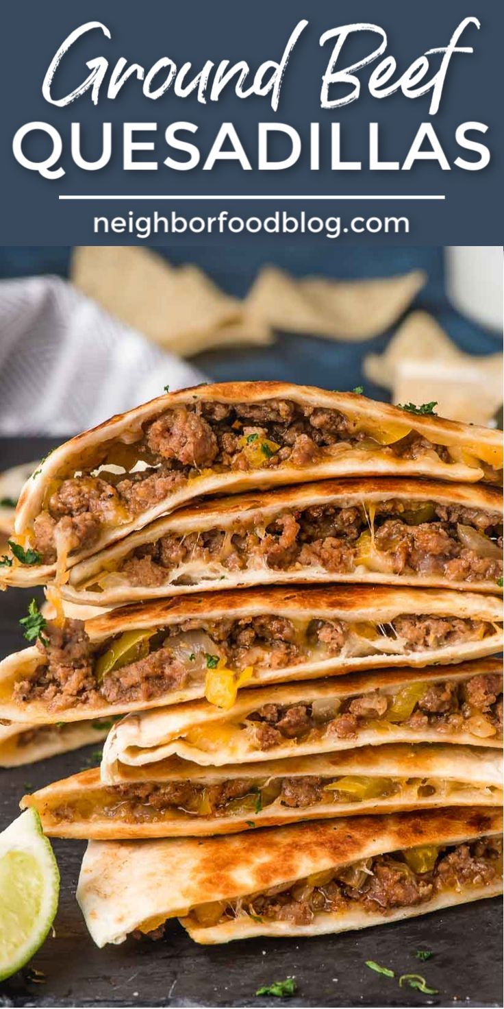 Easy Ground Beef Quesadillas In 2020 Ground Beef Recipes Easy Beef Quesadillas Ground Beef Recipes For Dinner