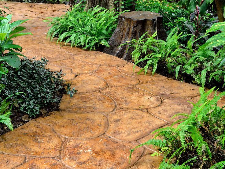 Stone walkway in garden,Thailand.
