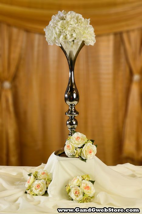 "22"" ALUMINUM BOUQUET HOLDER SILVER, GandGwebStore.com has a wide variety of bouquet holders for all your decoration needs."