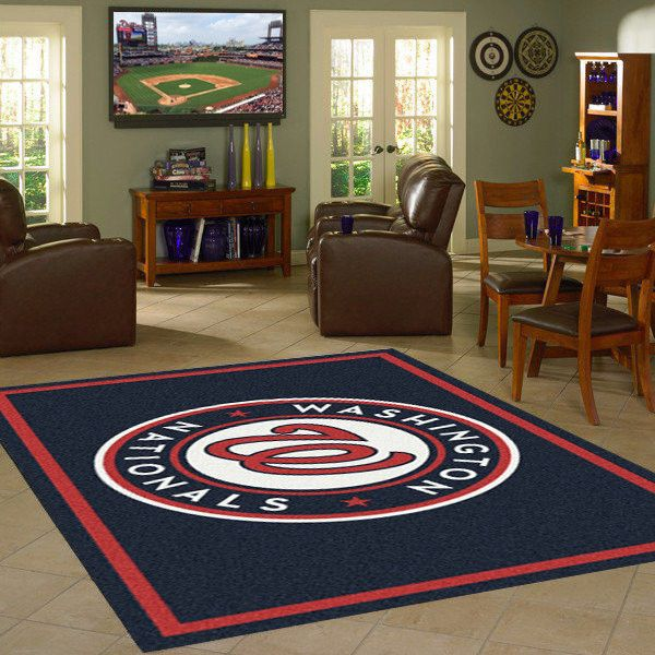 Washington Nationals MLB Team Logo Spirit Rug