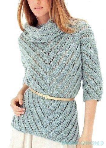 Вязание джемпера для женщин спицами