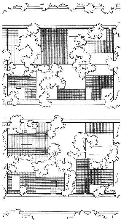 Mies van der Rohe   Estudios sobre la Casa Patio (Patio Houses)   1931-1934