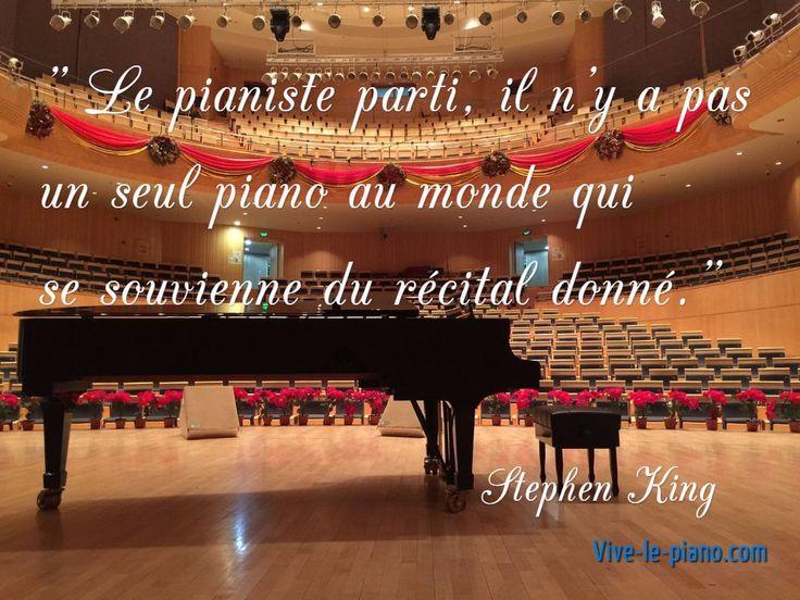 Un bel instrument ne suffit pas, il faut le pianiste qui va avec...
