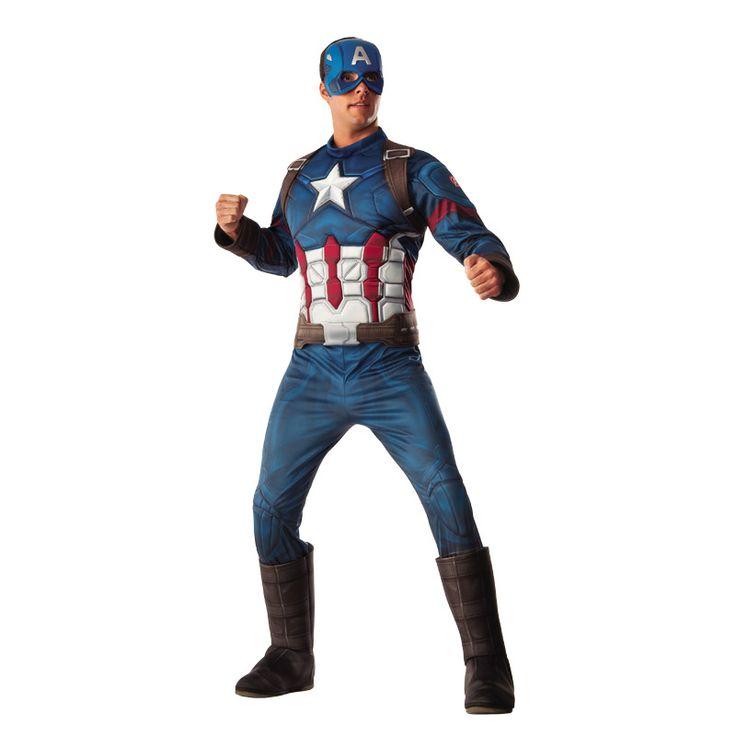 Disfraz de Capitán America Deluxe - Marvel® #disfraces #carnaval #novedades2016