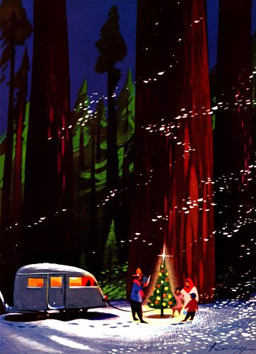 17 best images about folk art and beyond on pinterest for Airstream christmas decoration