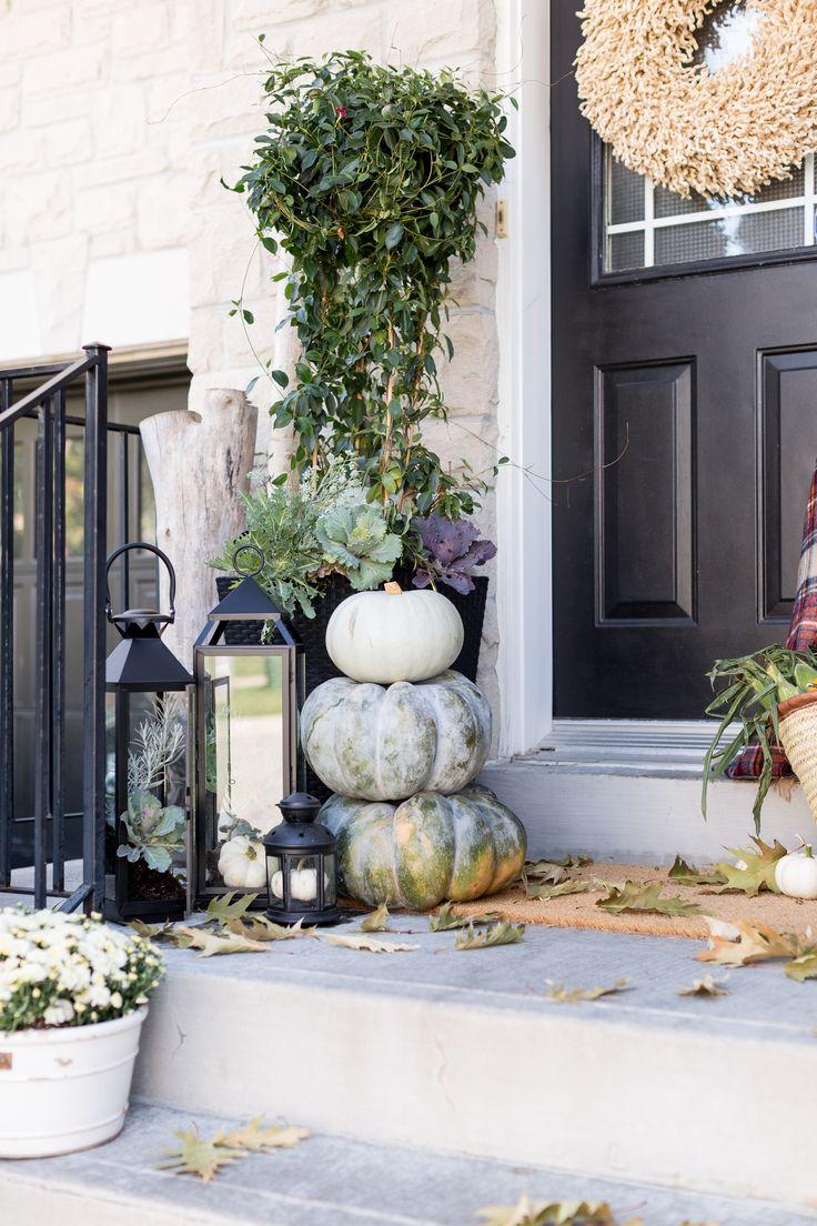 Craftberry Bush | Fall Front Porch Ideas | http://www.craftberrybush.com