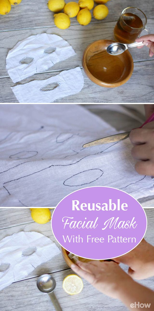 Homemade face masks can add moisture, fight aging or banish acne from your skin. Using sheet masks means less messy! This facial trend uses thin, absorbent material to deliver concentrated doses of skin-loving ingredients without the goop. Make your own reusable mask with our free pattern download. http://www.ehow.com/how_12342967_diy-reusable-facial-mask-free-downloadable-pattern.html?utm_source=pinterest.com&utm_medium=referral&utm_content=freestyle&utm_campaign=fanpage