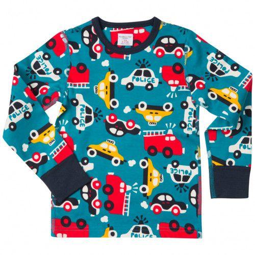 Värikkäitä paitoja ja pöksyjä tarvitsee aina. Koko 98. Polarn O. Pyret.