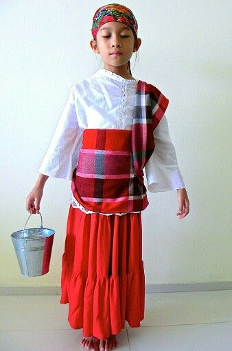 baro at saya traditional filipino dress | child model ...